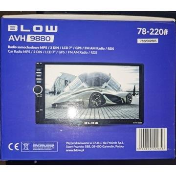 RADIO - BLOW AVH 9880 - 2 DIN stacja multimedialna