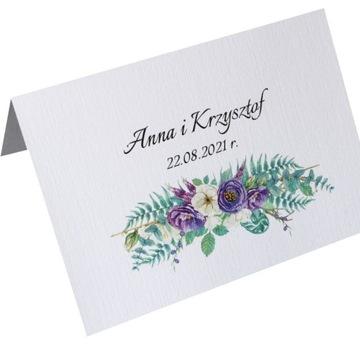 Zaproszenie kwiatowe kwiaty ślub ślubne + koperta
