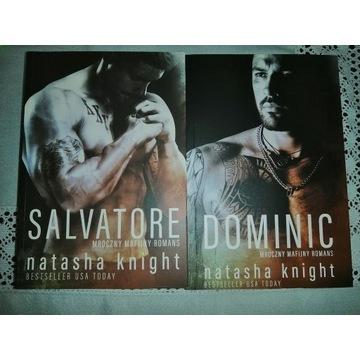 "Książki Natasha Knight "" Salvatore"" i "" Dominic"""