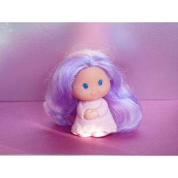 Lalka anioł laleczka aniołek fioletowe włosy słodk