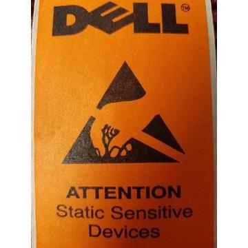 ORYGINALNE naklejki DELL STATIC sensitive DEVICES