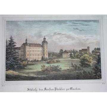 1840 ORYGINAŁ PARK MUŻAKOWSKI ŁĘKNICA Zielona Góra