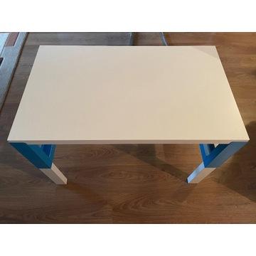 PAHL Biurko, biały/niebieski 96x58 cm