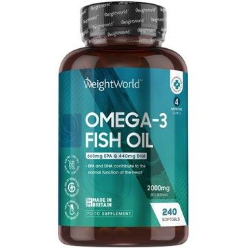 Omega 3 240 kapsułek 2000mg olej ryby z EPA i DHA