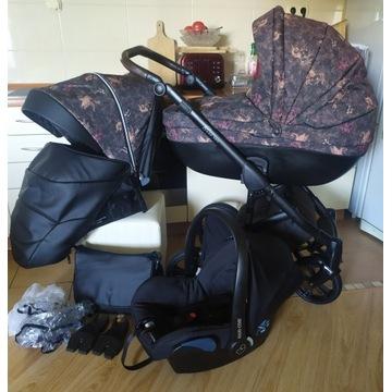 Śliczny wózek ROAN Bass Soft 3w1 My Sweet Unicorns