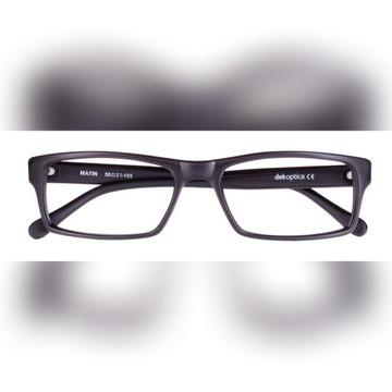 Okulary korekcyjne męskie wg recepty (czarny mat)