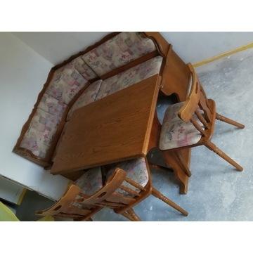 Narożnik kuchenny +krzesła +stół