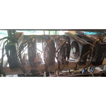 Koparka Kryptowalut 5x rx570 8Gb 1x rx 480 8Gb