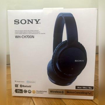 Nowe słuchawki nauszne SONY WH-CH700N Blue