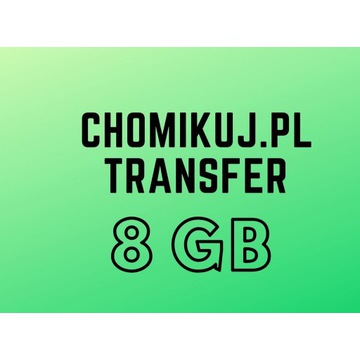 CHOMIKUJ 8GB - KOD SMS TRANSFER BEZTERMINOWY