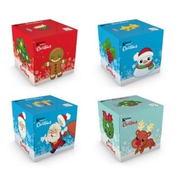 Chusteczki CHRISTMAS Box 56 szt. 3-warstwowe