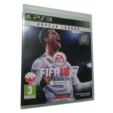 FIFA 18 Legacy Edition PL / ps3 playstation3