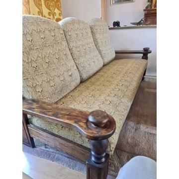 Piękny komplet wypoczynkowy + fotel i ława