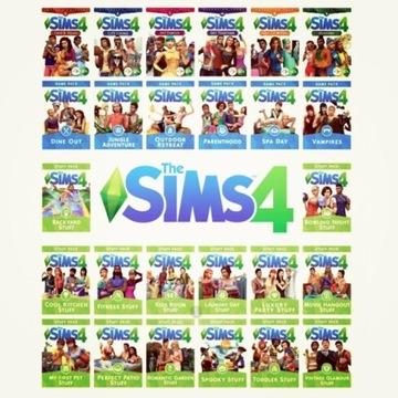 THE SIMS 4 + WSZYSTKIE DODATKI DLC STEAM PC PL