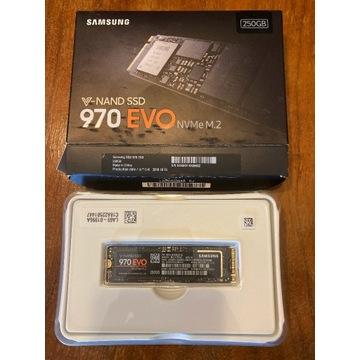 Dysk Samsung 970 EVO 250GB SSD NVMe M.2 + WIN 10