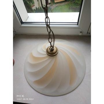 Lampa wisząca gruby szklany klosz 80cm