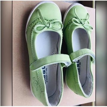 Skórzane pantofelki dziewczęce,29. Made in Italy