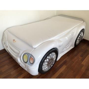 Łóżko autko z materacem sprężynowym