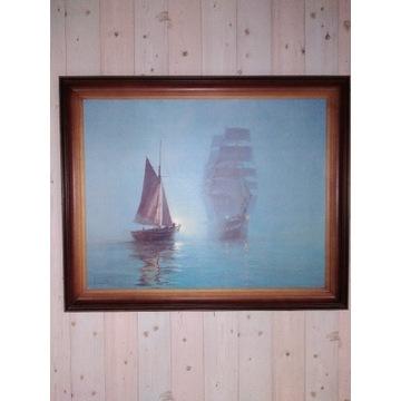 Obraz. Sygnowany w drewnianej ramie.