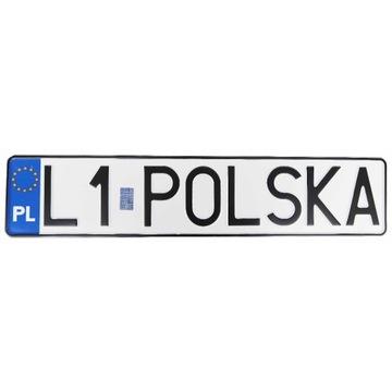 POLSKA Tablica do ramek rejestracyjnych,hologram