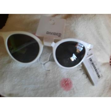 Okulary przeciwsloneczne w oprawie bialej  H&M