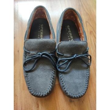 Granatowe letnie mokasyny sperry boat shoes r 42