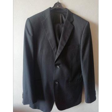 Elegancki garnitur Puere czarny spodnie marynarka