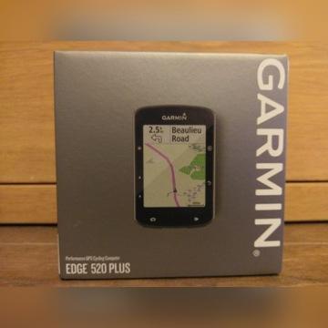 Garmin Edge 520 Plus , z uchwytem