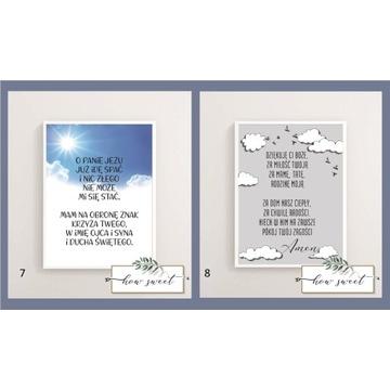 Aniele Boży Modlitwa plakat dla dziecka