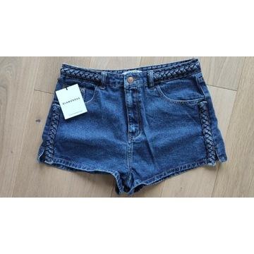 Szorty Glamorous jeansowe warkocze M nowe