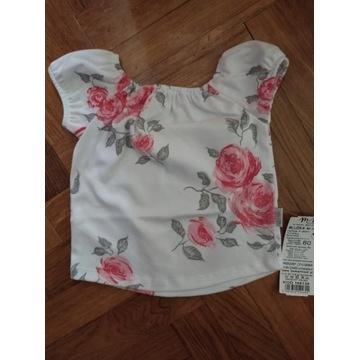 Śliczna bluzeczka w kwiaty na lato 80
