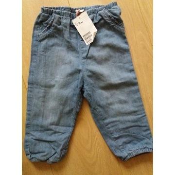 Nowe ocieplane spodnie h&m rozm 86