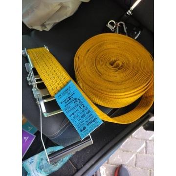 4 pasy jednoczęściowe pętla 12 m żółty 5 ton