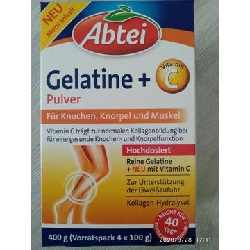 Abtei Gelatine żelatyna w proszku + Wit. C 400g