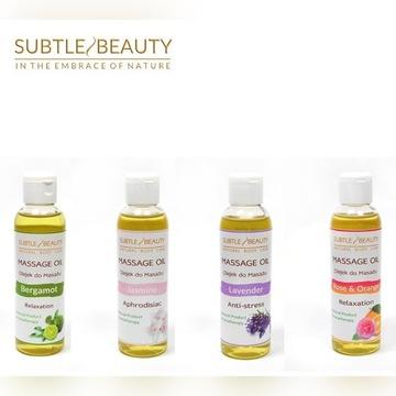 Naturalny olejek do masażu - 10 zapachów !