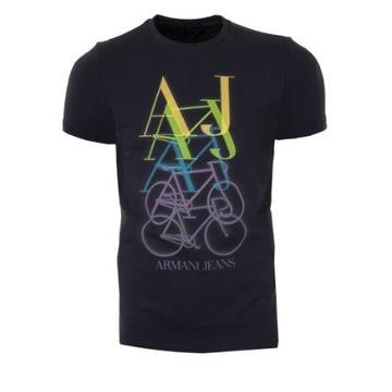 Armani Jeans - Granatowy T-shirt w roz. XXL
