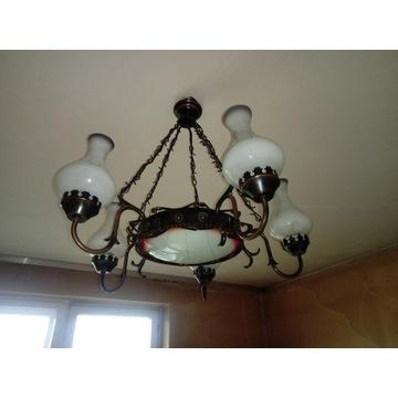 Klaszyczna lampa retro wisząca 6x e27
