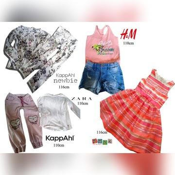 Super duża paka ubrań dziewczyna 110-116 5-6lat