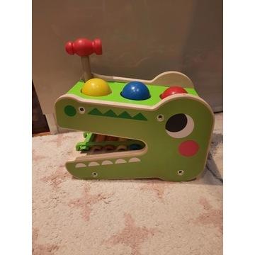 Drewniany ksylofon-krokodyl