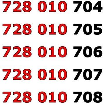 728 010 70x ŁATWY ZŁOTY NUMER STARTER x 5