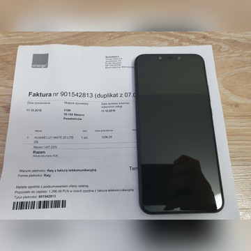 Idealny Huawei Mate 20 Lite 64GB/4 RAM