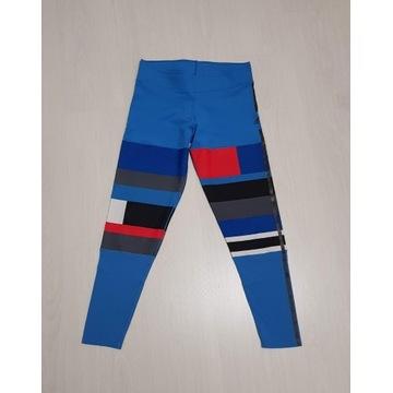 Legginsy ADIDAS Sportowe Niebieskie Climalite L