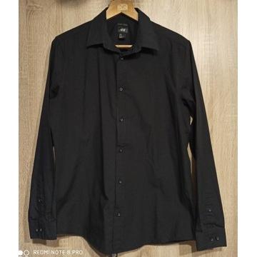 Koszula czarna z długim rękawem rozm. M