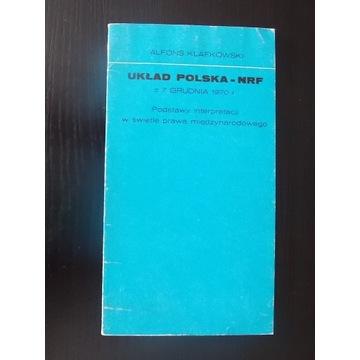 A.Klafkowski, Układ Polska-NRF z 7 grudnia 1970 r.