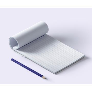 Notes, karteczki, bloczek A6+, w linie x50szt.