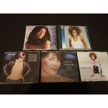 5 x CD WHITNEY HOUSTON Pop Album Single Exhale