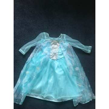 Sukienka - strój Elsy rozmiar 98/104 H&M Karnawał