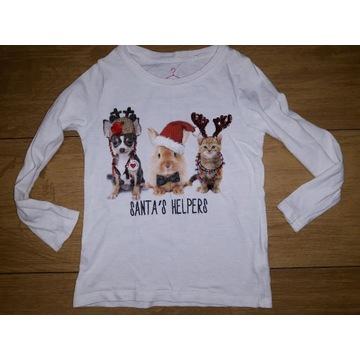 Next, świąteczna bluzeczka, 4 latka, cudo