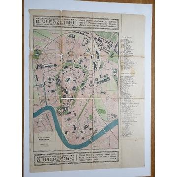 Plan Krakowa około 1912