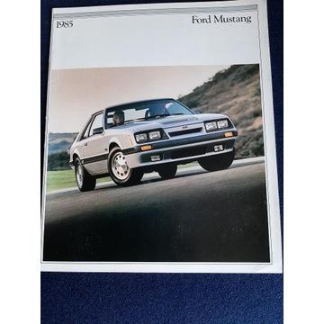 FORD  MUSTANG  !!!!  PROSPEKT  1984 r